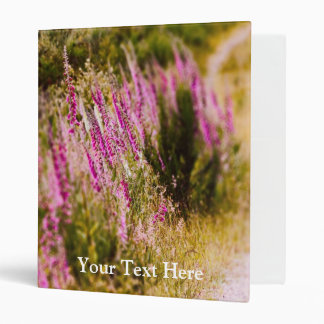 Foxgloves on a Country Road Landscape Binder
