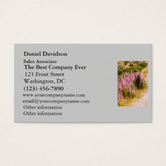 Foxgloves on a Country Road Landscape Business Card