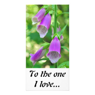 Foxgloves To the one I love Photo Cards