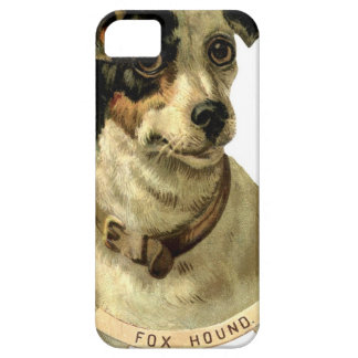 foxhound animals pet face eyes nap sleep vintage iPhone 5 covers