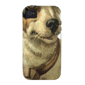 foxhound animals pet face eyes nap sleep vintage iPhone 4/4S cover