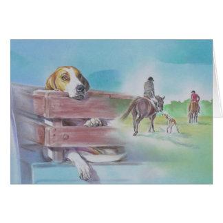 Foxhound Dog Card