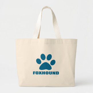 FOXHOUND DOG DESIGNS LARGE TOTE BAG