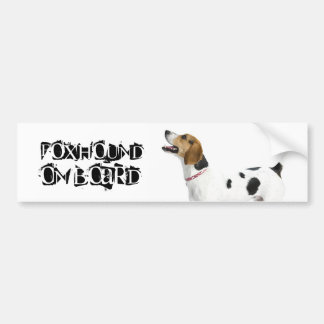Foxhound on Board Bumper Sticker