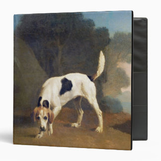 Foxhound on the Scent, c.1760 (oil on paper laid o 3 Ring Binder