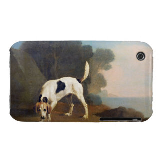 Foxhound on the Scent, c.1760 (oil on paper laid o iPhone 3 Case-Mate Cases