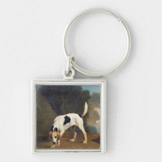 Foxhound on the Scent, c.1760 (oil on paper laid o Keychain