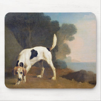 Foxhound on the Scent, c.1760 (oil on paper laid o Mouse Pad