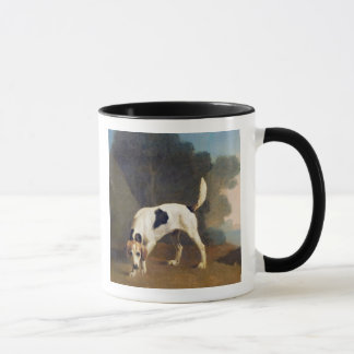 Foxhound on the Scent, c.1760 (oil on paper laid o Mug
