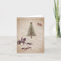 Foxhunt Holiday and Christmas card