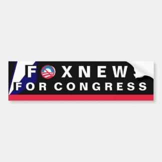 FoxNews para el congreso Pegatina Para Auto