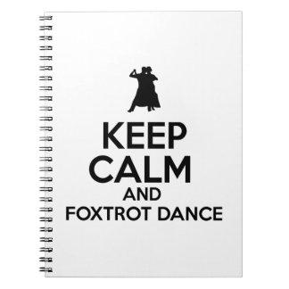 foxtrot dance design notebook