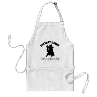 foxtrot dance designs adult apron