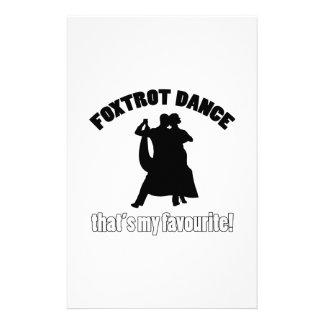 foxtrot dance designs stationery paper