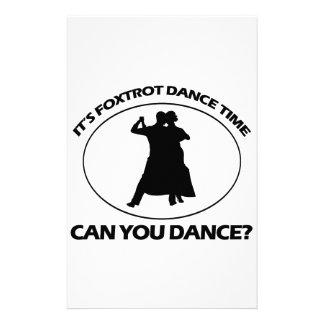 foxtrot DANCE DESIGNS Stationery