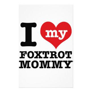 foxtrot dance Mom designs Stationery