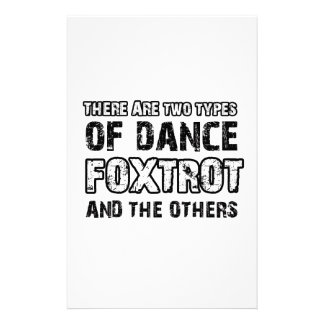 Foxtrot dancing designs stationery paper