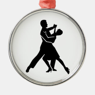 Foxtrot dancing metal ornament