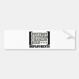 Foxtrot Deployments Bumper Sticker