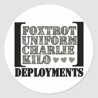 Foxtrot Deployments Classic Round Sticker