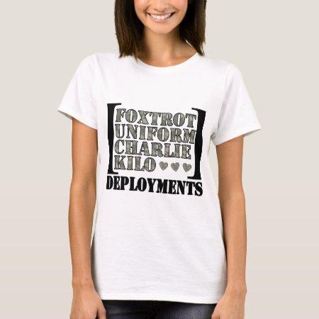 87c99c16 Foxtrot Uniform Charlie Kilo Deployments T Shirts