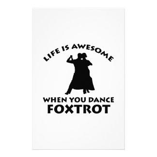 foxtrot design customized stationery
