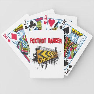 Foxtrot el bailarín bajo construcción baraja de cartas