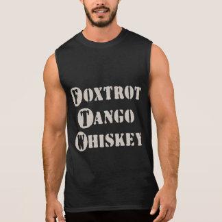 Foxtrot el whisky del tango playera sin mangas