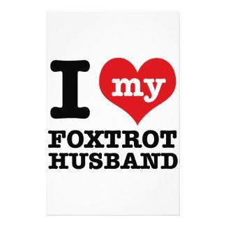 foxtrot husband stationery paper