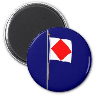 Foxtrot I am disabled Nautical Signal Flag Refrigerator Magnets