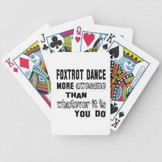 Foxtrot la danza más impresionante que lo que es barajas de cartas