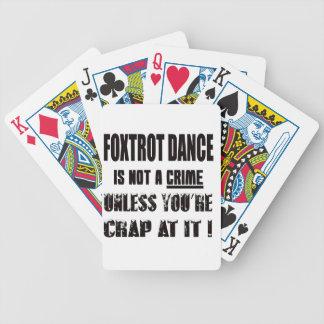 Foxtrot la danza no es un crimen cartas de juego