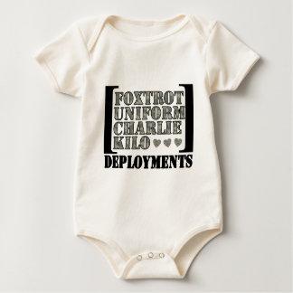 Foxtrot los despliegues body de bebé