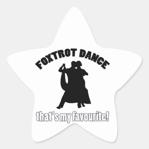 foxtrot los diseños de la danza calcomania forma de estrella