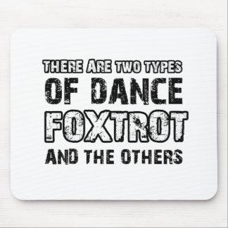 Foxtrot los diseños del baile alfombrillas de raton