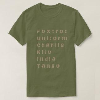 Foxtrot, uniforma, Charlie, kilo, la India, tango Playera