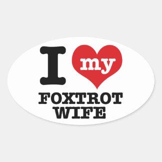 foxtrot Wife Oval Sticker