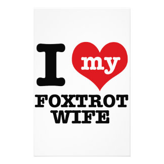foxtrot Wife Customized Stationery