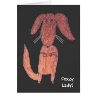 Foxxy Lady dog Card