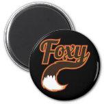 Foxy 2 Inch Round Magnet