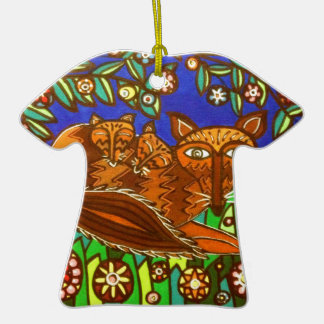 Foxy and her cubs. ceramic T-Shirt decoration