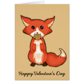 Foxy And Sweet Valentine Greeting Cards