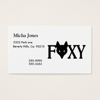Foxy Business Card
