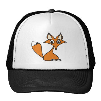 Foxy Cartoon Trucker Hat