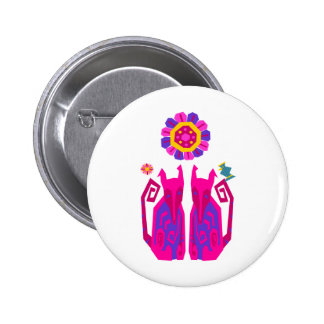 Foxy Cats Button