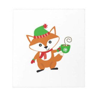 FOXY CHRISTMAS MEMO NOTEPADS