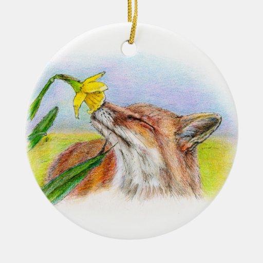 FOXY CHRISTMAS ORNAMENT