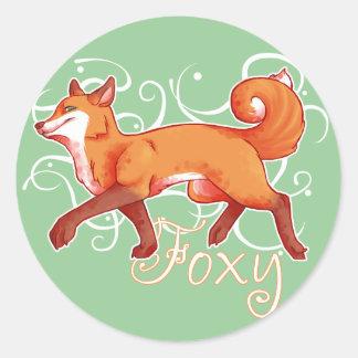 Foxy Classic Round Sticker