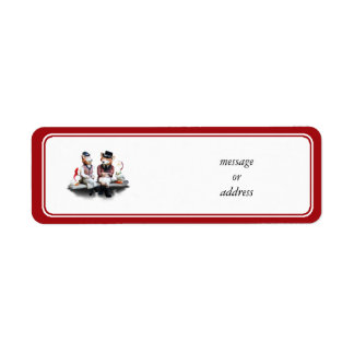 Foxy Couple (Add Your Text) Return Address Label