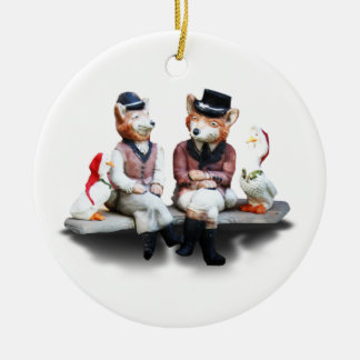 Foxy Couple (Add Your Text) Ornament